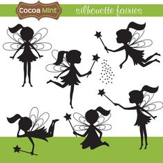 Clip Art Picutres, Clipart, Clip Art, Silhouette Fairies you can find these at etsy.com by cocoamint