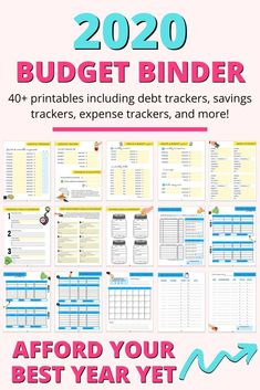 Click to explore the best budget binder to afford your best life in 2020. Included you'll find budgeting printables, debt trackers, saving trackers, expense trackers, and more. If you're sick of living paycheck to paycheck, you need to organize your finances with these budget binder printables. Click to download your 2020 budget binder printables! #budgetbinder #budget #binder #budgeting #printables #budgetingprintables #budgetprintables #budgetbinderprintables #savings #expensetracker #debt