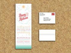 Fun invitation  Elegant Beach Wedding AllInOne Trifold  by WinkGraphicDesign, $25.00