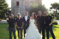 """Parte del equipo de profesionales que formamos """"Miguel Onieva Fotógrafo"""" en la boda del último fin de semana. Muchas gracias Chema, Sergio, Bea y sobre todo a los novios Luismi y Asun por confiar como todos nuestros clientes en nuestro trabajo.  www.miguelonievafotografo.com #fotografosdeboda"""