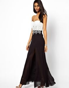 Lipsy VIP Maxi Dress with Embellished Waist