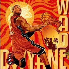 Dwyane Wade 'Red Hot' Illustration - Hooped Up
