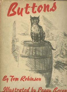 """Buttons"" by Tom Robinson, illustrated by Peggy Bacon; New York: Viking, 1938 - book cover"