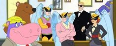Harvey Birdman: Attorney at Law  Punky Brewster as Birdgirl / Stephen Colbert as Phil Ken Sebben / Gary Cole as Harvey (yeah... If you can get me those TPS reports that would be great...)