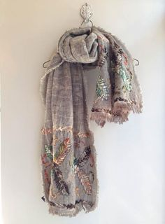 I want to embroider some shirts, jeans, and a scarf.  ♒ Enchanting Embroidery ♒  embroidered scarf