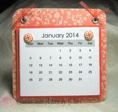 Easel Desk Calendar by CardsAndMoreBySheri on Etsy, $8.00