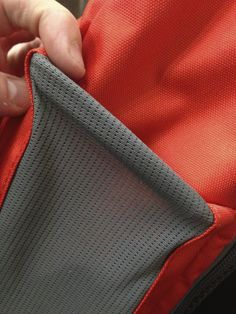 Rolled Elastic sewn into mesh for clean finish
