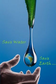 Save Water- Save Earth by VasSha on DeviantArt Save Mother Earth, Save Our Earth, Save The Planet, Save Environment, Water Poster, World Water Day, Water Resources, Water Conservation, Save Water