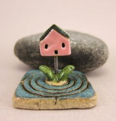 MyLand - Baby Home  - Collectible 3x3 cm or 1.2x1.2 in. puzzle in stoneware by elukka on Etsy https://www.etsy.com/listing/227178836/myland-baby-home-collectible-3x3-cm-or