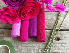 DIY Crepe Paper Flower Kits