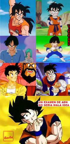 la paternidad de Goku...  #dragonBall nunca pasa de moda... sus #memes tampoco!! _ www.ñoño.cl