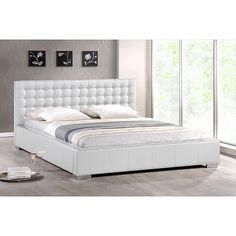 Madison White Modern Queen-size Platform Bed