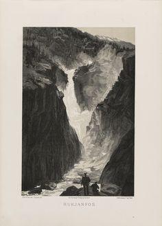 Norge fremstillet i Tegninger - Olaf Krohn - Rukjanfos. jpg (4360×6080)