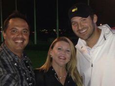 We all Tony Romo loves himself some golf maybe more than football it seems here's Romo at a charity golf event.