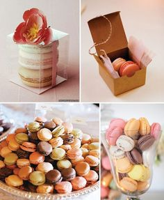 macaroons at the dessert table - We can get pretty vases like shown here and put them on table