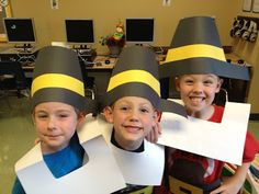 Thanksgiving Costumes and Turkey Run Template
