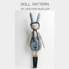 Lieschen Mueller doll patterns - Easter or birthday gift :) Sewing Toys, Baby Sewing, Sewing Crafts, Sewing Projects, Diy Projects, Rabbit Crafts, Bunny Crafts, Small World, Art And Hobby