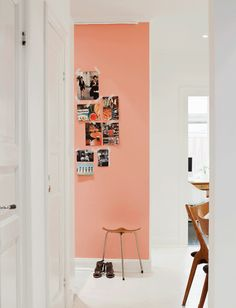 peach... I wonder if i should paint one wall in my room this colour