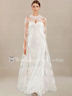 Elegant Tulle Lace Wedding Dress with Matching Shawl DE465