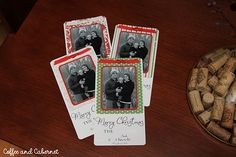 easy looking homemade Christmas cards