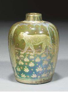 Pilkington's Royal Lancastrian vase decorated by Richard Joyce (1913)    LANCASTRIAN VASE, IS THAT A LION?