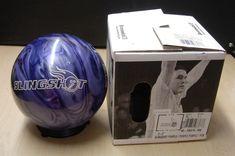 10# 4oz NIB Mexico Brunswick SLINGSHOT Purple-Purple Reactive Bowling Ball  Z
