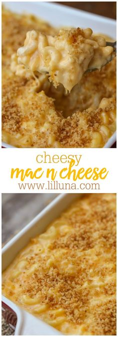Homemade Macaroni and Cheese - the cheesiest, CREAMIEST homemade mac n cheese you'll ever make! Macaroni pasta covered in sharp cheddar cheese, melted into a warm cream sauce, and topped with a perfect panko crust. The whole family will definitely approve!