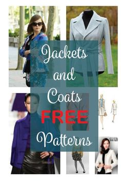 All the Jackets & Coats FREE Patterns published on the blog
