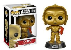 From Star Wars: Episode VII - The Force Awakens comes C-3PO, a worrying droid with hyper-attention to proper protocol, as a Funko Pop! Vinyl Figure portrayed by actor Anthony Daniels! This Force Awakens version of C-3PO features him with a red left arm. It stands about 3 3/4-inches tall on a decorative platform, and comes in a collectible window box.#nesteduniverse