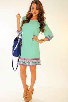 Almost Paradise Dress: Mint  get 10% OFF with code SUNSHINESTILETTOS. Free shipping!
