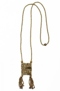 Tassel Necklace. Handmade by HIV-positive women in Ethiopia. In addition to providing sustainable economic opportunities, Raven + Lily returns proceeds to fund healthcare and literacy programs for women and children in this community.