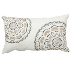 Found this pillow yesterday at Target and its now the color scheme for my new family room... the plan is a gray sectional and either the cream or beige on the walls, I'm thinking the beige since we have the built-ins that will already be light and then do the curtains in the cream.