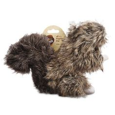 Leaps and Bounds Playtime Pal Small Dark Greyish Brown Squirrel Toy for Small Dogs * Read more at the image link. (This is an affiliate link and I receive a commission for the sales) #MyCat