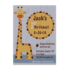 How fun is it to have guests put together a puzzle to reveal the information about the party? This Pinnovation die makes it easy to customize a puzzle invitation in minutes.