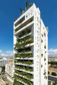 Green Architecture, Sustainable Architecture, Contemporary Architecture, Architecture Design, Jean Nouvel, Modern Architects, Zaha Hadid Architects, Green Tower, Green Facade