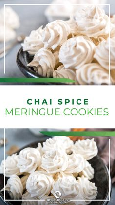 Chai Spiced Meringue Cookies melt in your mouth and make a festive treat during the holidays!