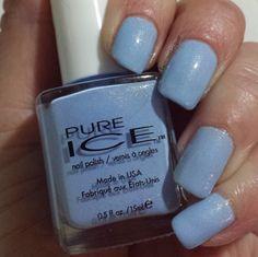 40 Great Nail Art Ideas- Pale Blue Base
