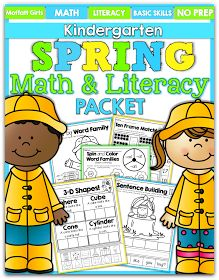 Spring is almost here and I can't wait! I enjoyed making our new Spring Math and Literacy Packet for Kindergarten! This packet is filled w...