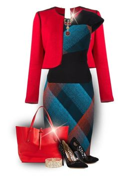 A fashion look from November 2015 featuring multi coloured dress, blazer jacket and Tabitha Simmons. Browse and shop related looks. Fashion Moda, Work Fashion, Fashion Looks, Womens Fashion, Classy Outfits, Chic Outfits, Fashion Outfits, Business Outfits, Business Fashion
