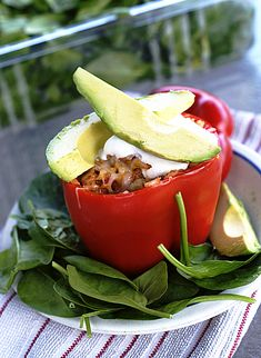 Healthy, good stuffed peppers