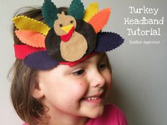Toddler Approved!: Turkey Day Headband Tutorial - No Sew