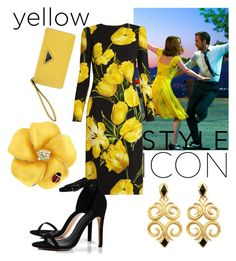 """Black-yellow"" by emrah-sekic on Polyvore featuring Dolce&Gabbana, Boohoo, awesome, yellow, black and lalaland"