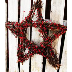 4th of July Decor-Summer Home Decor-Holiday Decor-Red Berry Star-Wall... ($45) ❤ liked on Polyvore featuring home, home decor, blue, home & living, home décor, wall décor, wall hangings, fall grapevine wreaths, outdoor autumn wreaths and spring wreath