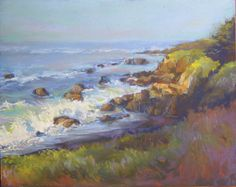 """""""Afternoon Delight"""": Cambria, Moonstone Beach CA, Paula Brown (sold)"""