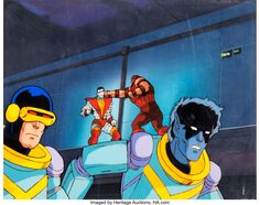 X-Men Cyclops Production Cel and Master Background (Marvel, c. Cyclops is front and center in this - Available at Sunday Internet Comics Auction. Marvel Cartoons, Cyclops, X Men, Snow White, Disney Characters, Fictional Characters, Auction, Animation, Comics