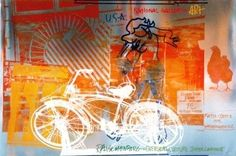"""Robert Rauchenberg -  """"Bicycle, National Gallery."""" Studying for art history and scoping out my main man, Mr. Rauchenberg."""