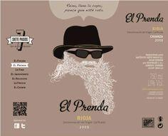 El Prenda. Rioja Etiqueta de vino / Wine label