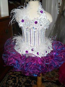 Raspberry Blue Mirror Organza Cupcake National Glitz Pageant Dress SZ 3T 4T | eBay