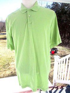 GH Bass Men's Polo Golf Shirt XL Polo Short Sleeve Green