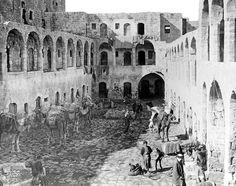 Nablus - نابلس : NABLUS - Late 19th, early 20th c. 80 - An old caravansaray, circa 1911 (Per Reem Ackall)
